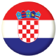 Croatia Country Flag 58mm Button Badge